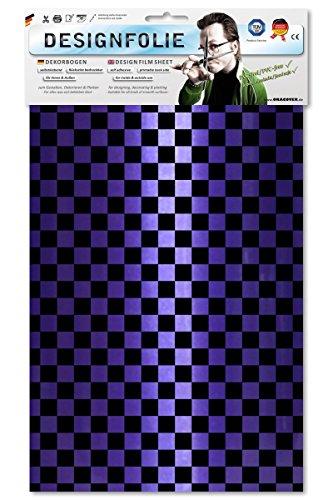 EASYPLOT 95-056-071-B - Designfolie Fun 4, Circa A4, Perlmutt lila/schwarz