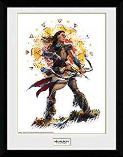 Horizon Zero Dawn Framed Collector Poster - Aloy Stand (16 x 12 inches)