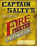 Captain Salty's Firefighter Logbook: with hazardous exposure documentation
