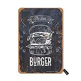 The Best Burger Vintage Look 20 x 30 cm Hierro Decoración Arte Cartel para Hogar Cocina Baño Granja Jardín Garaje Divertido Decoración de Pared