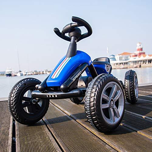 Pedal Go Kart,Pedalata Su Giocattoli Con Sistema Di Trazione Posteriore,4 Ruote Con Anti-strisce Slip Per Ragazzi E Ragazze-Blu