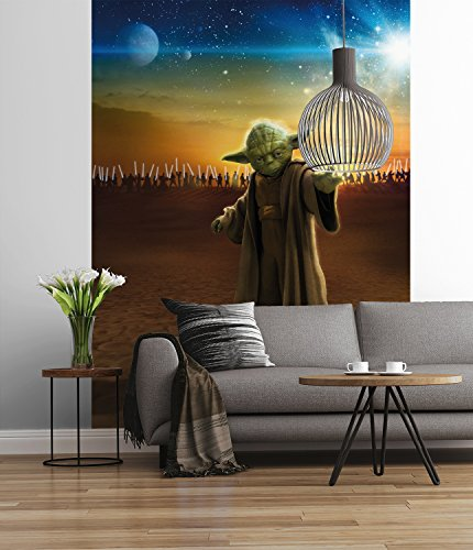 Sunny Decor SD442 Fototapete STAR WARS Master Yoda, Bunt