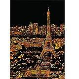 DHRH Scratch Art para Adultos y niños, Cuadros de Arte arquitectónico Pintados a Mano para niños para Decorar Regalos de cumpleaños, París