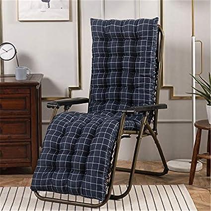 BANNAB Cojines de Cobre para sillones, no Contiene sillas, Cojines para el Sol, Cojines para tumbonas para Patio o jardín, Rejilla Azul, 48 * 170