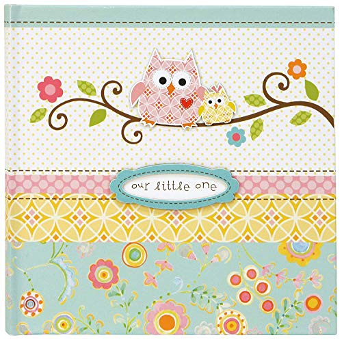 C.R. Gibson's Owl Theme, Small Photo Album Baby Book, 80 pages, 9'' x 8.9''
