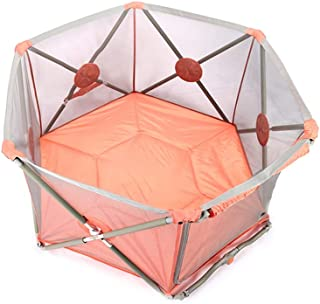 Baby playpen-SYY Hexagonal Design-fence For Baby Toddlers Children Easy Carry Stable Structure Useful Area1 4Square Meter  Color Pink