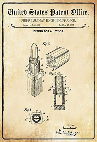 Kilburn Patente De Para Un Pintalabios Suinat Retro Creativo Pared Decoración Personalidad Moda Fondo Estilo Simple Pintura Hierro