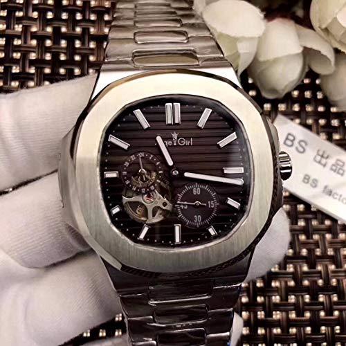 LESHARED Automatische Mechanische Mannen Horloge Saffier Rose Goud Tourbillions Horloges Zilver Zwart Blauw Jumbo Skeleton horloge Zilver Koffie