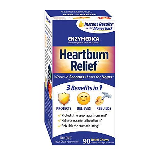 Enzymedica, Heartburn Relief, Fast-Acting Digestive Aid, 90 Chews