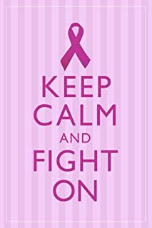 Breast Cancer Keep Calm and Fight On Motivational Cool Huge Large Giant Poster Art 36x54