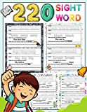 Image of 220 Sight Word: High-frequency sight word worksheets 5 Level for Pre-primer Primer First Second and Third or Preschoolers to 3rd Grade That are Key to Reading Success