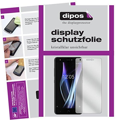 dipos I 2X Schutzfolie klar kompatibel mit BQ Aquaris X Pro Folie Bildschirmschutzfolie