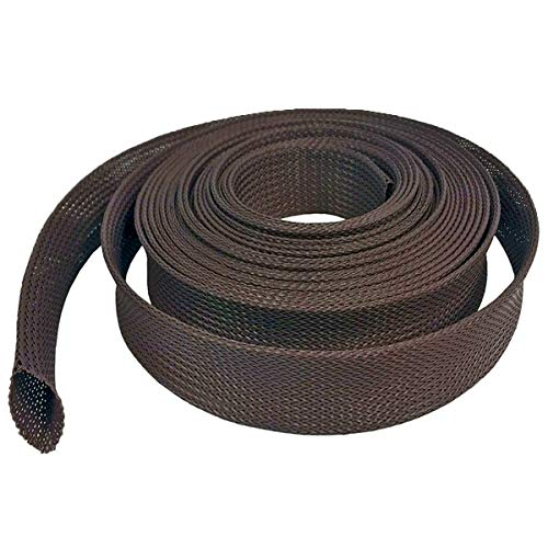 """Electriduct 2.5"""" Rodent Resistant Braided Sleeving Mouse and Rat Repellent Hose Wire Mesh Cable Protection Flexible Expandable Wrap - 250 Feet"""