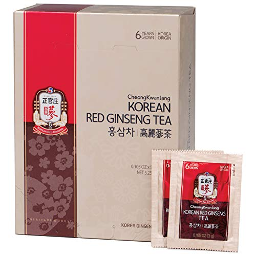 KGC Cheong Kwan Jang [Korean Red Ginseng Tea] Convenient Natural and Organic Ginseng Tea - 50 Bags