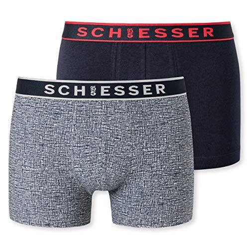 Schiesser Herren 95/5 Short\' Unterwäsche, Sortiert 4, L (2er Pack)