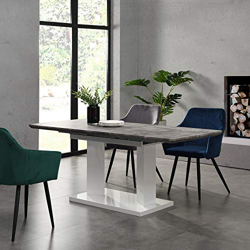 Cherry Tree Furniture Goswell Concrete Effect Extending 6-8 Seater Dining Table