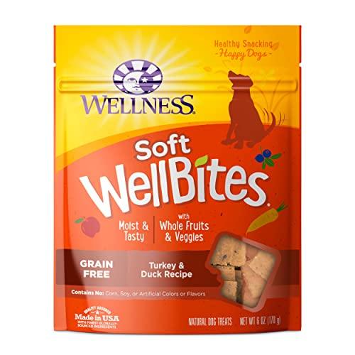 WELLNESS WellBites Turkey & Duck Recipe Soft & Chewy Dog Treats, 6...