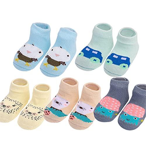 5 par/Lote Calcetines de bebé recién Nacido Calcetines de algodón para bebés niñas Calcetines Cortos encantadores Accesorios de Ropa para 0-6,6-12,12-24 meses-a6-6-12Month