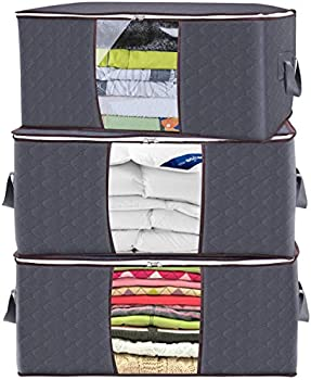 3-Pack Raniaco 105L Clothes Storage Bag Organizer