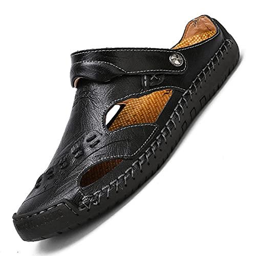 Fnho Botas de montaña Deportivas,Zapatos de Senderismo al Aire Libre,Sandalias Casuales, Zapatillas de Playa al Aire Libre de Moda-Negro_47