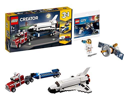 LEGO LEGOCreator 31091 Transporter für Space Shuttle 30365 Raumfahrtsatellit Bausteine, Bunt