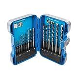 Silverline Tools 723650 - Set di 15 punte per trapano per muratura, 3-10 mm