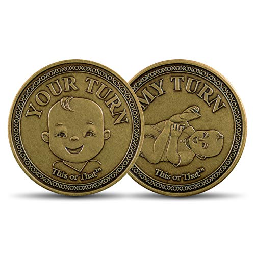 This or That Original Diaper Changing Coin   Flip Coin to See Who Changes Diaper – Baby Shower Gift