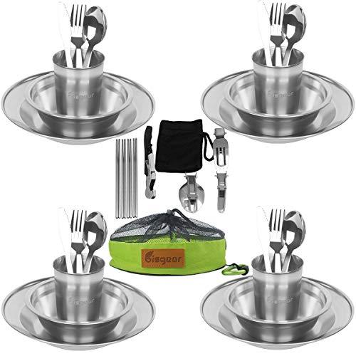 Stainless steel tableware mess kit