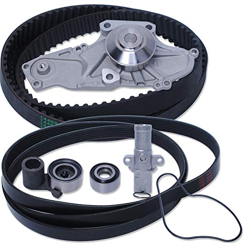 Podoy TCKWP329 Engine Timing Belt Kit with Water Pump Compatible with 2013-2017 Acura Hon-da Saturn 3.0 3.2 3.5 3.7L Replace for TKH-002 TKH002