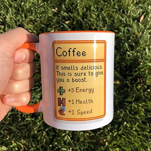Taza de café Stardew Valley – Taza de café para té, tazas de café, regalos divertidos para hombres, mujeres, él, ella, día de la madre/cumpleaños/Navidad11 oz