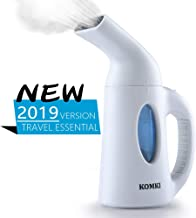KOMKI Steamer for Clothes, Travel Garment Steamer 60s Fast Heat-up Continuous Powerful Steam Anti-Leaking Anti-Spilling Auto-Off 850W Portable Handheld Steamer for Home and Travel