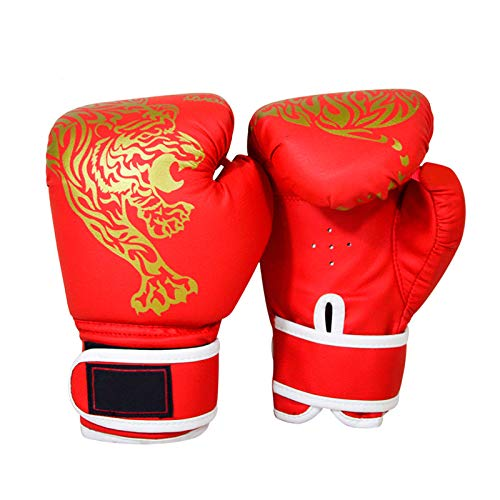 Guantes de Boxeo,Kickboxing Gloves Sparring MMA Gloves Guantes para Hombres Mujeres Cuero Más Acolchado Saco de Boxeo para Kickboxing,Sparring,Training Muay Thai y Heavy Bag Niñas Sparring Guantes