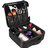 SlowTon Makeup Travel Case Train Cosmetic Bag Organizer Portable with Portable for Makeup