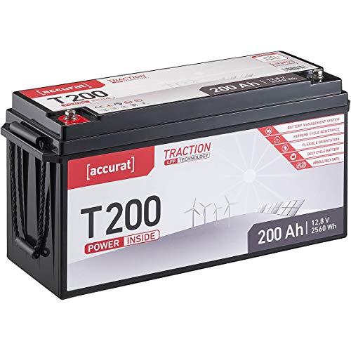 Accurat Traction 12V 200Ah LiFePO4 Lithium-Eisenphosphat Versorgungs-Batterie T200 LFP