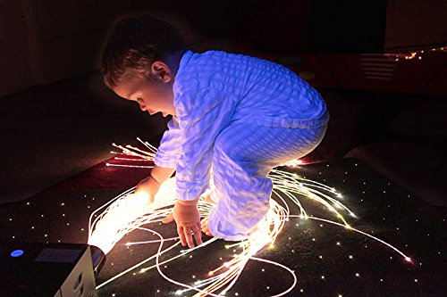 Cheapest Price! Sensory & Therapy Large Fiber Optic Lighting Kit - (200 Tails 9.84') with LED Colorc...