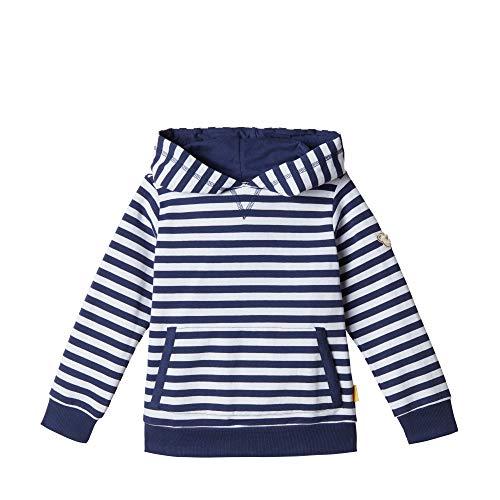 Steiff Jungen Sweatshirt , Blau (PATRIOT BLUE 6033) , 104 (Herstellergröße:104)