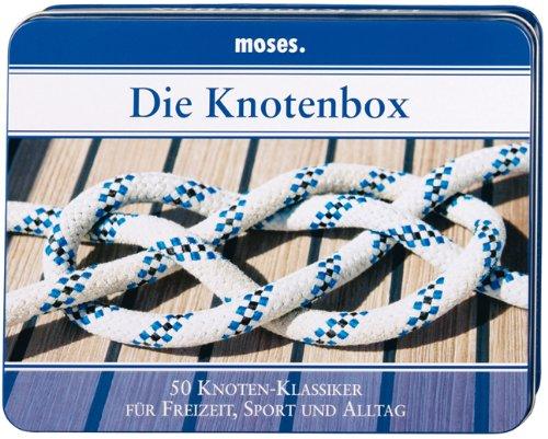 Moses 4006 Die Knotenbox | 50 Knoten-Klassiker für Freizeit, Sport und Alltag | Inkl. 2 Schnüren zum Üben