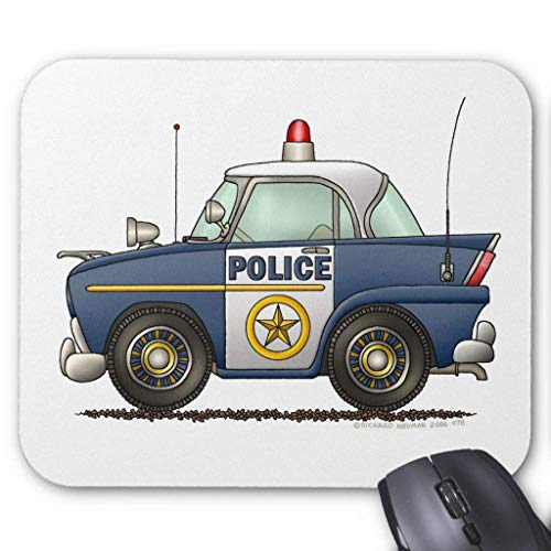 Accesorios de ordenador anti-fricción pulsera policía coche aplicación de la ley Mouse Pad 18X22