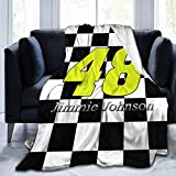 FGHFGHF Jimmie Johnson Ultra Soft Throw Blanket Flannel Fleece All Season Light Weight Living Room/Bedroom Warm Blanket All Seasons