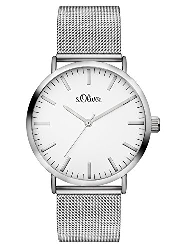 S.Oliver Damen Analog Quarz Armbanduhr SO-3145-MQ
