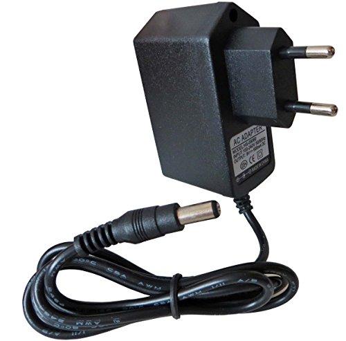 keepdrum 9V Netzteil für Effektgeräte Gitarre/Bass Steckernetzteil AC-Adapter 600mA 5,5mm Hohlstecker Netzgerät Stecker