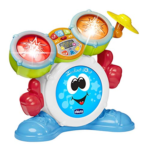 Chicco Mi Primera Batteria per Bambini, Strumento Musicale con luci e Suoni, 3 modalità di Gioco