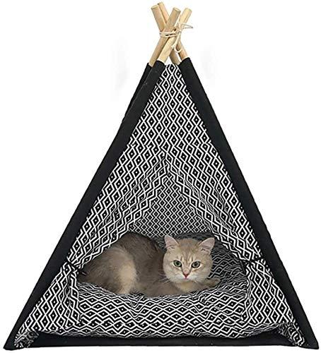 Letto per animali domestici Cat Cat Casa, Portatile Pet Peepee Tent Tenda Pieghevole Cat Bed Dog Puppy House House Piccolo animale Play Kennels Cuscino lavabile rimovibile, fondo antiscivolo per migli