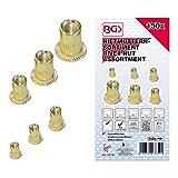 BGS 14126   Surtido de tuercas remachables   acero cincado   150 piezas