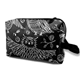 Cute Owls In Boho Style with Cosmetic Beauty Bag Cosmetic Makeup Bag Waterproof Women Girl