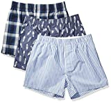 Amazon Brand - Goodthreads Men's 3-Pack Stretch Woven Boxer Shorts, Navy Feather, XXX-Large