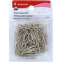 Set of 500 dressmaker pins, also known as Silk pins Used to hold fabric together before sewing, and for DIY crafts and beading Size 17 – 1 1/16 inch Made of nickel-plated steel for strength and rust resistance Silver color allows for visibility while...
