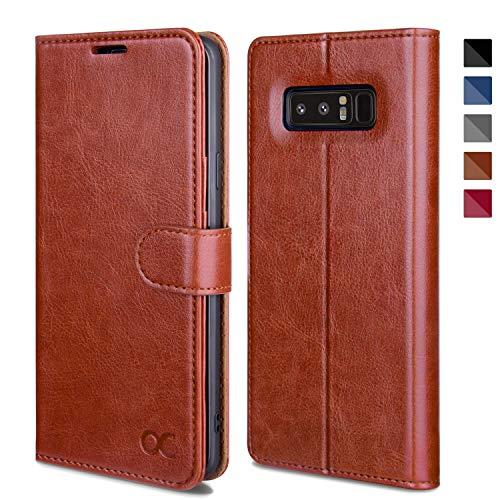 OCASE Samsung Galaxy Note 8 Hülle Handyhülle Samsung Galaxy Note 8 [Premium Leder] [Standfunktion] [Kartenfach] [Magnetverschluss] Leder Brieftasche für Galaxy Note 8 Braun