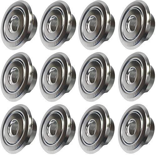 (12 Pack) 1/2' IPS fire Sprinkler Head Escutcheon Cover Plate Standard Cover Ring Chrome