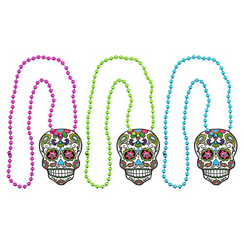 Henbrant Blue Banana Day of The Dead Necklace (Multicoloured)
